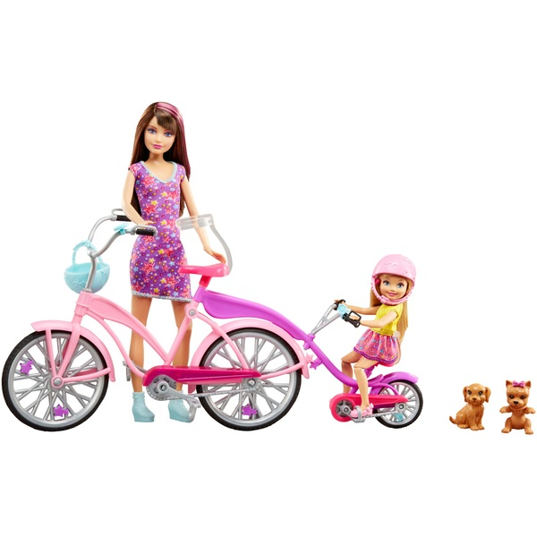 Barbie Camping Fun Dolls Bikes Accessories Set