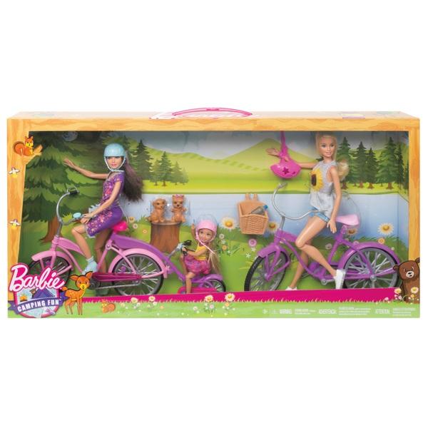 Barbie Camping Fun Dolls Bikes Accessories Set