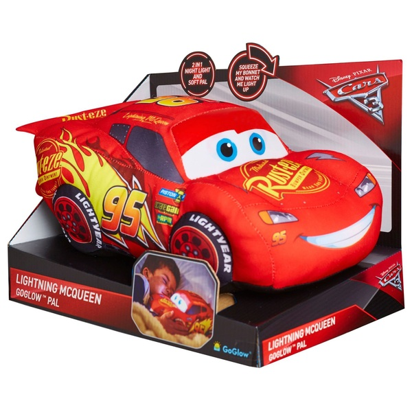 Disney Cars 3 Lightning McQueen GoGlow Light Up Pal  sc 1 st  Smyths Toys : pictures of lighting mcqueen - azcodes.com