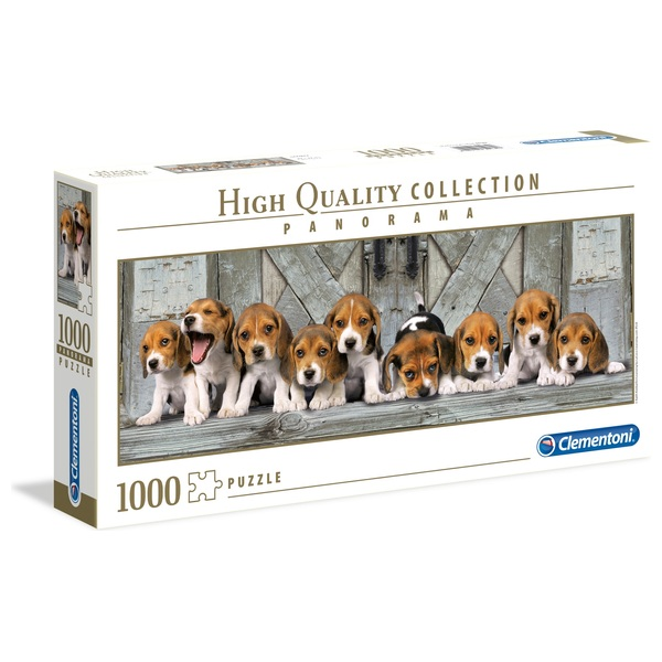 Clementoni Panorama 1000 Piece Puzzle Beagles