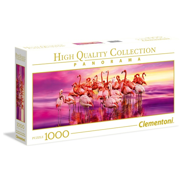 Clementoni 1000pcs Panorama Puzzle Flamingo Dance