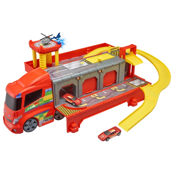 Teamsterz Fire Station Truck Play Set Diecast Cars