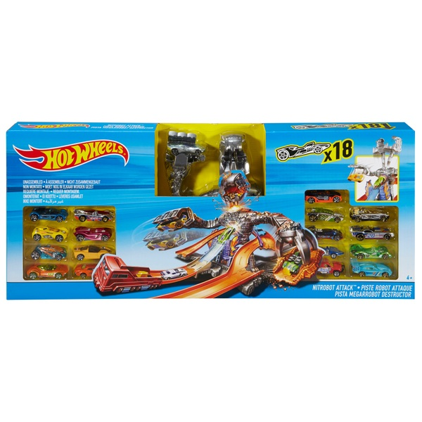 Hot Wheels NitroBot Attack Playset