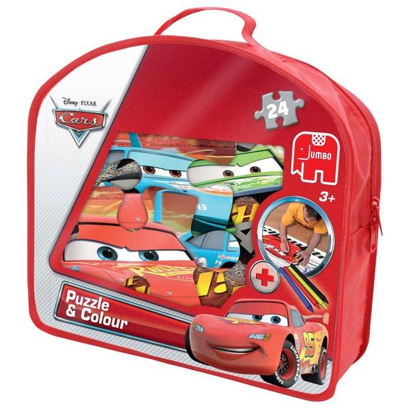 Disney Cars Puzzle & Colour