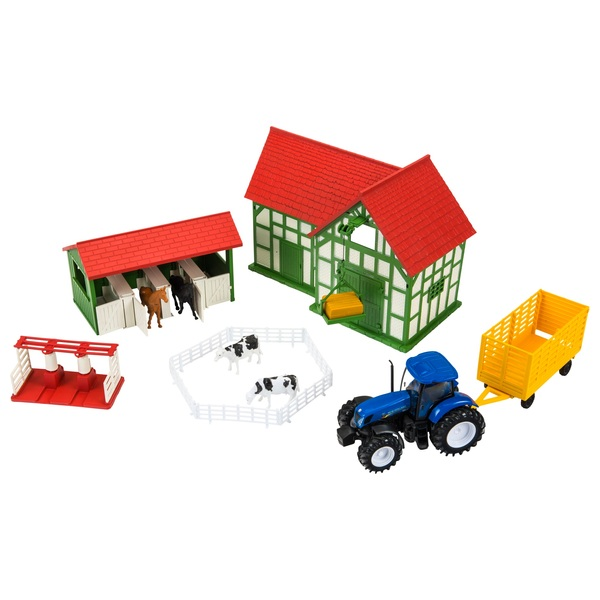 Country Life Set with New Holland Tractor & Farmhouse