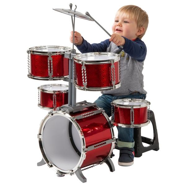 Red 7 Piece Toy Drum Set