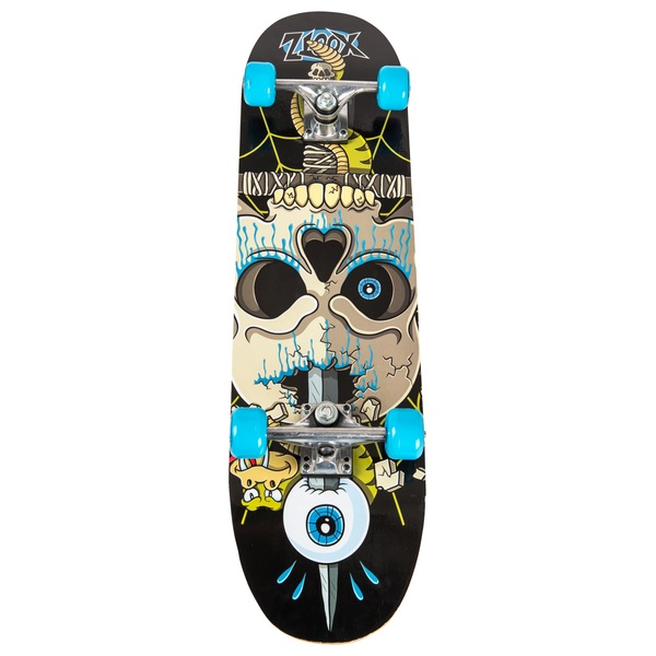 78cm Xootz Tri Skull Skateboard
