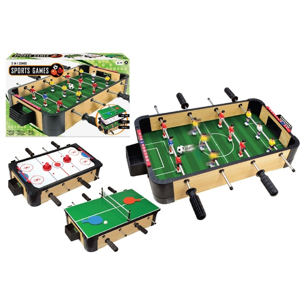 3 In 1 Tabletop Games Table Sports Tables Uk
