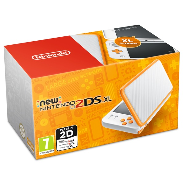 New Nintendo 2DS XL Console - White and Orange