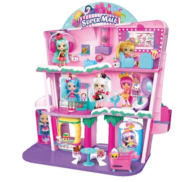 Shopkins Shoppies Shopville Super Mall Playset