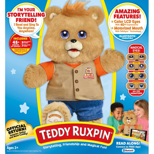 Teddy Ruxpin Original Magical Bear Interactive Toys for Boys and Girls 2 and Up