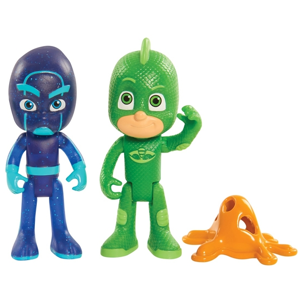 PJ Masks Light-Up Hero and Villain Pack Gekko and Night Ninja