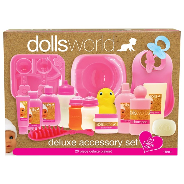 20 Piece Deluxe Doll Accessory Set