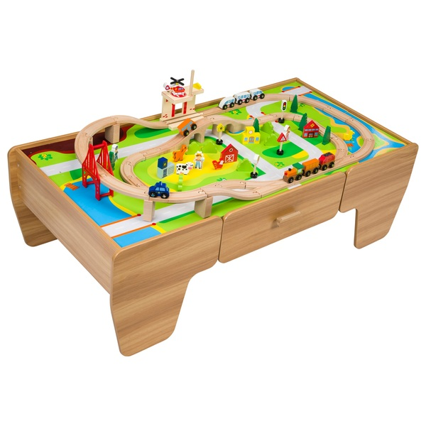 80 Piece Wooden Train Set With Table Gift Finder 3 5