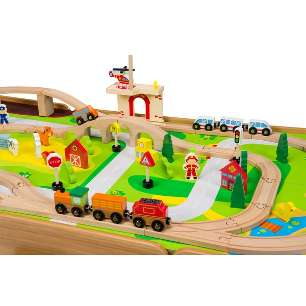 80 Piece Wooden Train Set with Table  sc 1 st  Smyths Toys & 80 Piece Wooden Train Set with Table - Gift Finder 3-5 Years UK