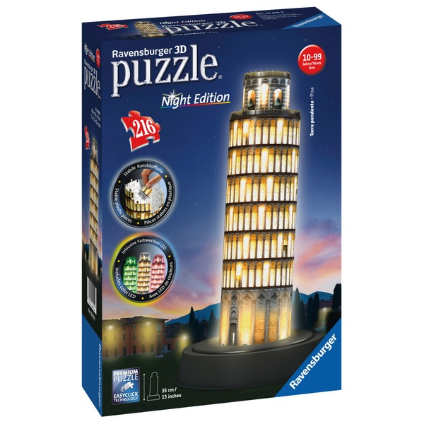 Ravensburger Leaning Tower Of Pisa Night Edition 216 Piece