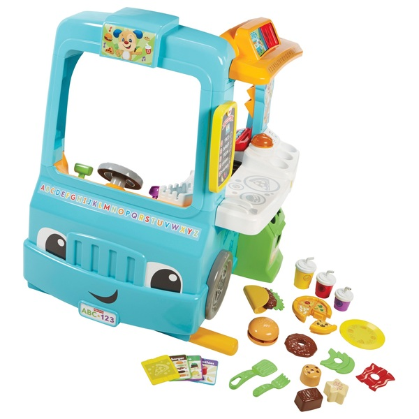 fisher price laugh learn servin 39 up fun food truck development activity toys uk. Black Bedroom Furniture Sets. Home Design Ideas
