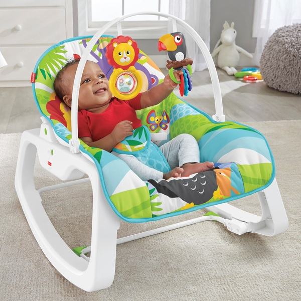 Fisher Price Infant To Toddler Rocker Green Assortment Baby Bouncers Smyths Toys Uk