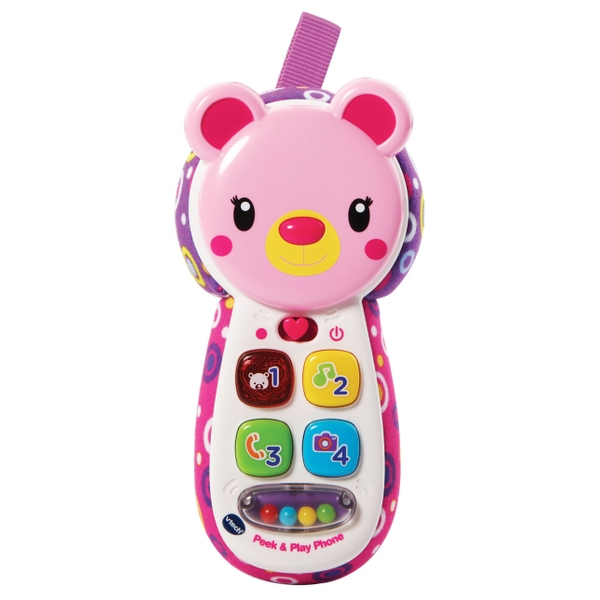VTech Peek & Play Phone Pink