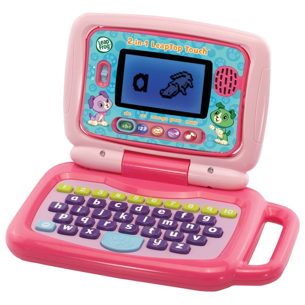 LeapFrog 2 in 1 LeapTop Touch Laptop Pink