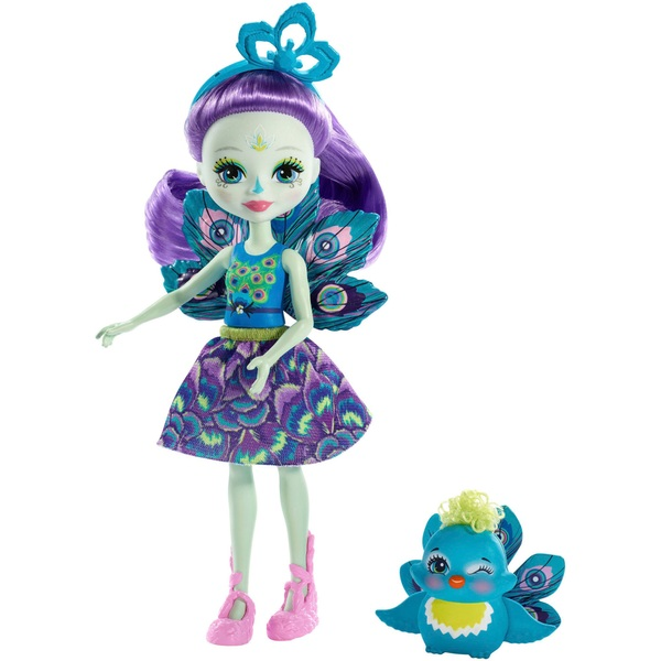 Enchantimals Patter Peacock Doll with Peacock Figure