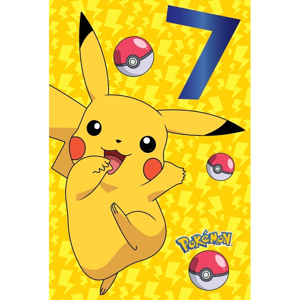 Pokemon Age 7 Birthday Card
