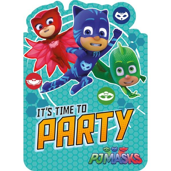 PJ Masks Invites - Partyware UK