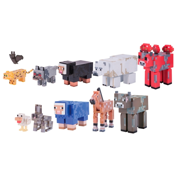 Animaux Minecraft minecraft jumbo animal pack - minecraft figures uk