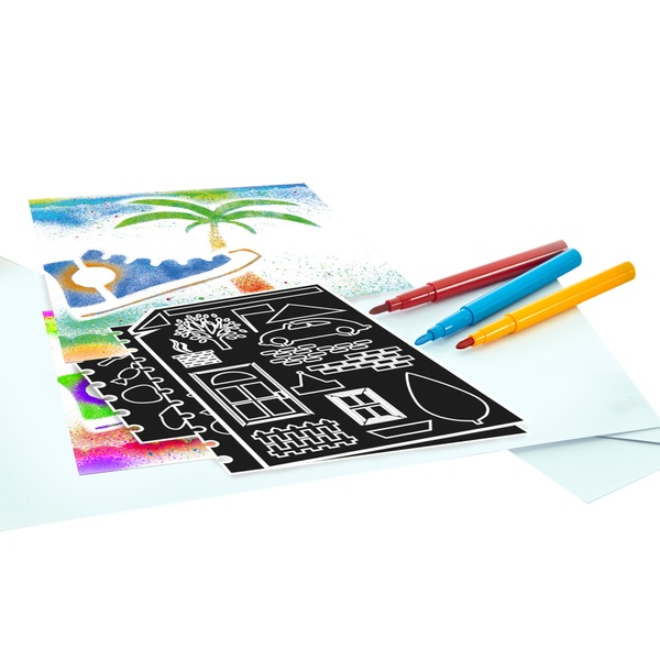 Spray Art Stencil & Felt Tip Refill Set