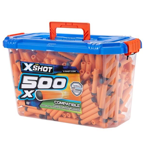 X-Shot Excel Universally Compatible Foam Darts Refill Box (500 Darts)