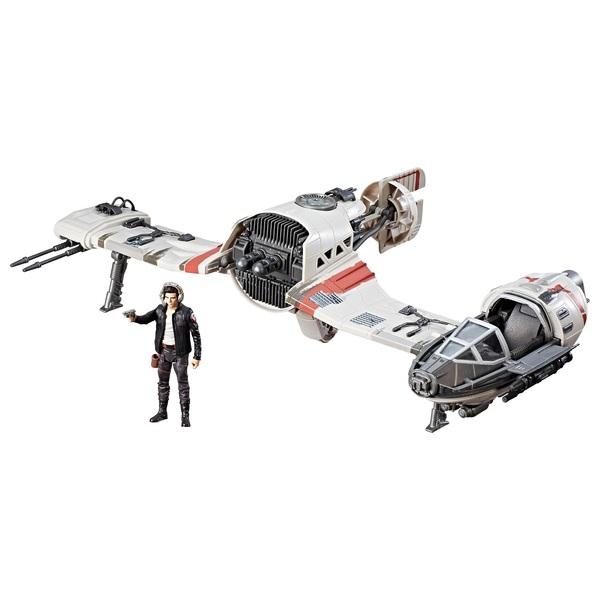 Star Wars The Last Jedi Force Resistance Ski Speeder and Captain Poe Dameron Figure