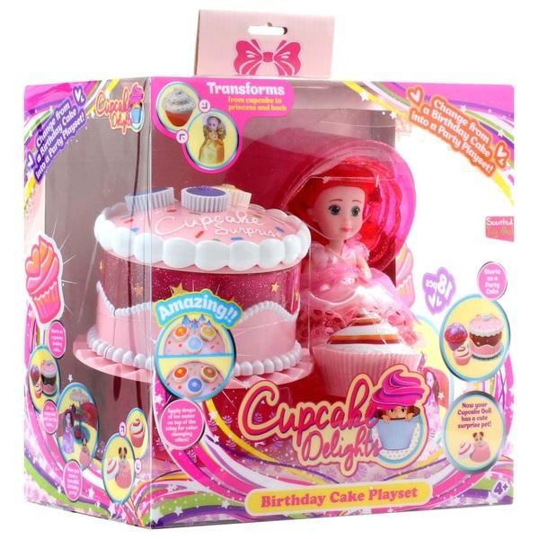Cupcake Surprise Birthday Cake Play Set