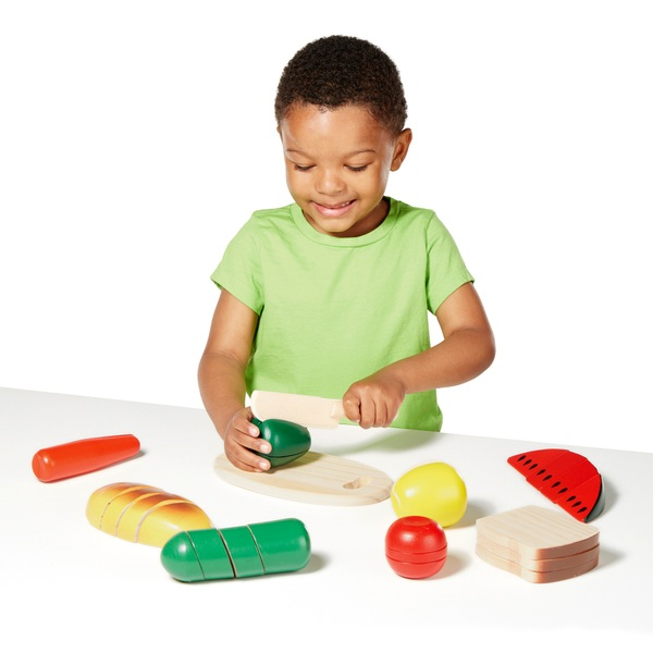 Melissa Doug Wooden Cutting Food Set Melissa And Doug