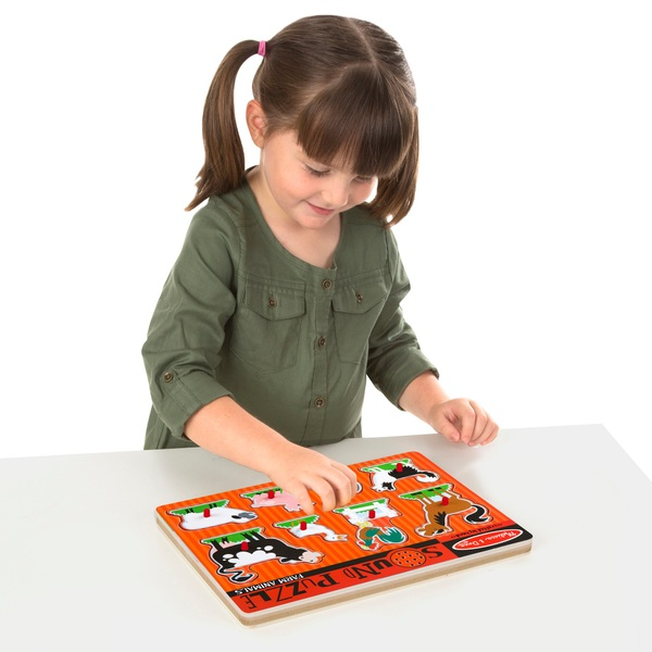Melissa Doug Wooden Animals Sound Puzzle Assortment Melissa And Doug