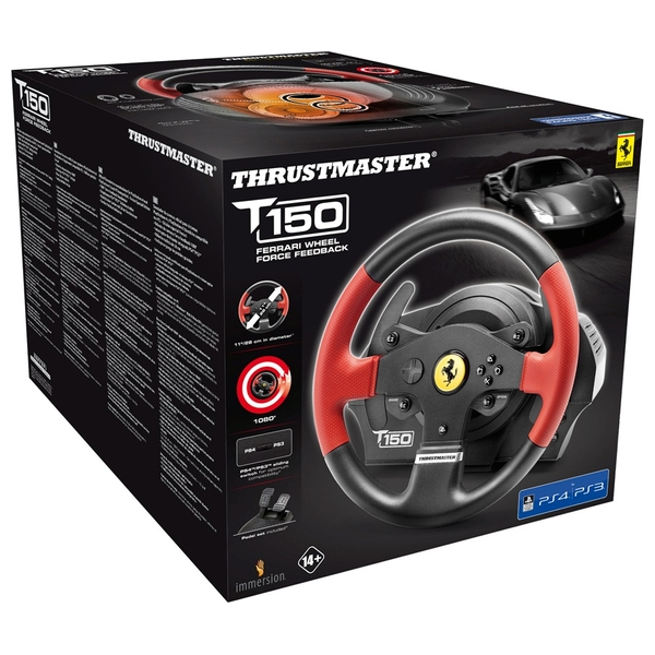 Thrustmaster T150 Ferrari Edition Force Feedback Racing Wheel for  PS4/PS3/PC - PlayStation 4 Accessories Ireland