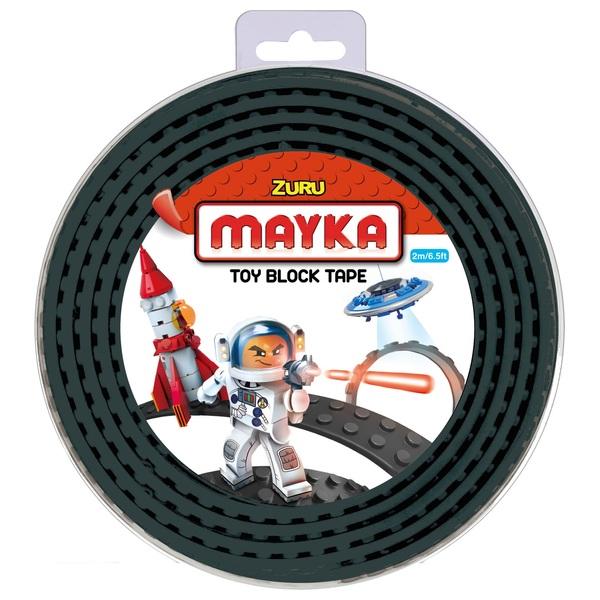 Mayka Toy Block Building Tape Medium (2 Stud 2 Metre) – Black