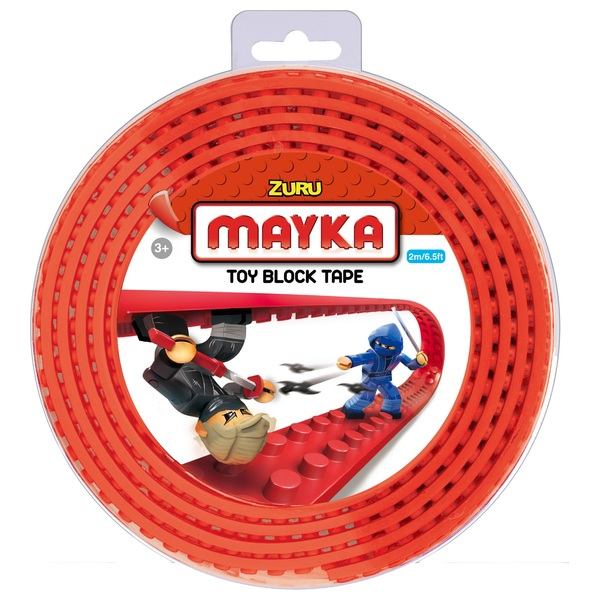 Mayka Toy Block Building Tape Large (4 Stud 2 Metre) - Red