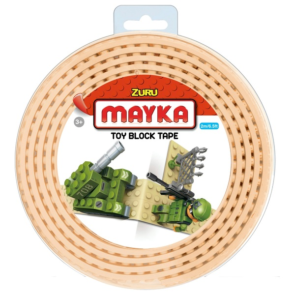 Mayka Toy Block Building Tape Large (4 Stud 2 Metre) - Sand