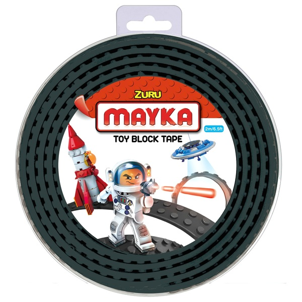 Mayka Toy Block Building Tape Large (4 Stud 2 Metre) - Black