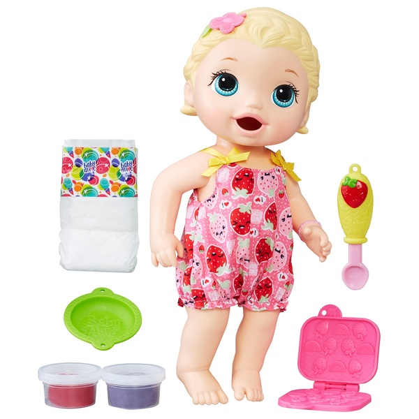 Baby Alive Super Snacks Snackin' Lily Doll - Blonde