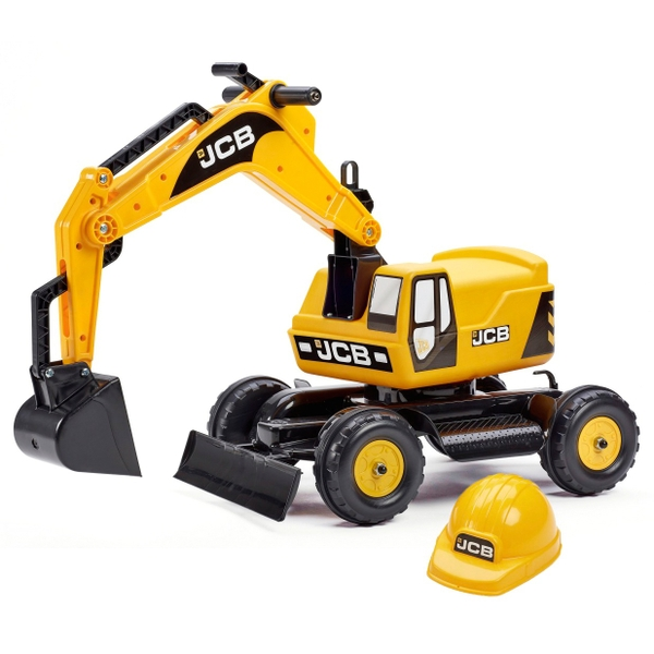 Constructor Excavator and Helmet for Home and Outdoor Toys