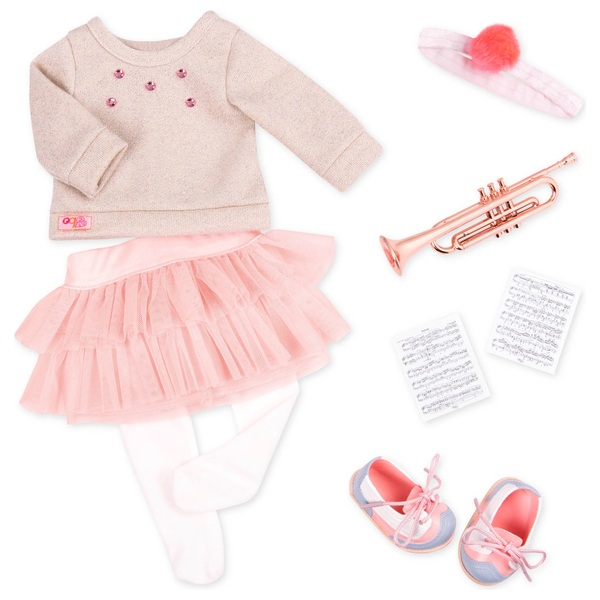 Our Generation Fashion Notes Deluxe Music Outfit