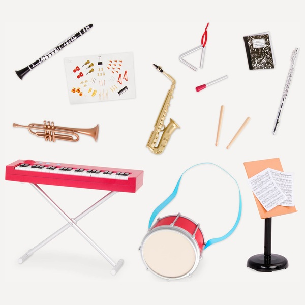 Our Generation School Band Music Deluxe Set