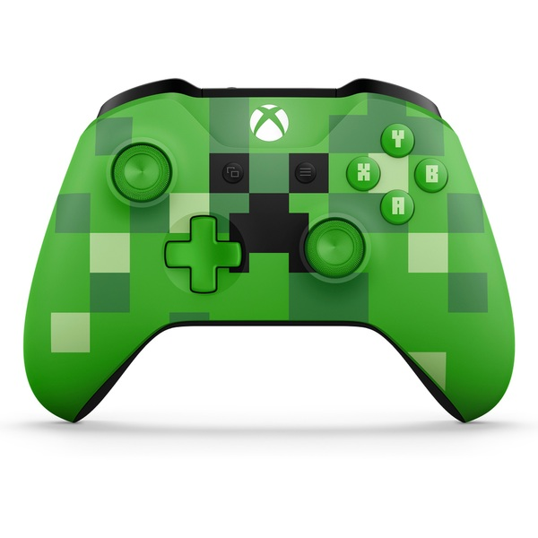 Xbox One Wireless Minecraft Green Controller