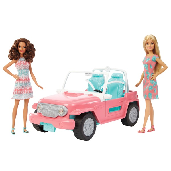 Barbie Jeep With Two Dolls Barbie Uk
