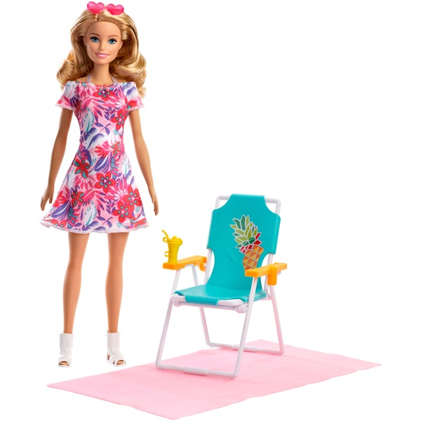 Barbie Doll Blonde and Beach Accessories Set