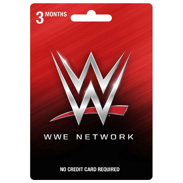 WWE Network 3-Month Subscription Prepaid Card