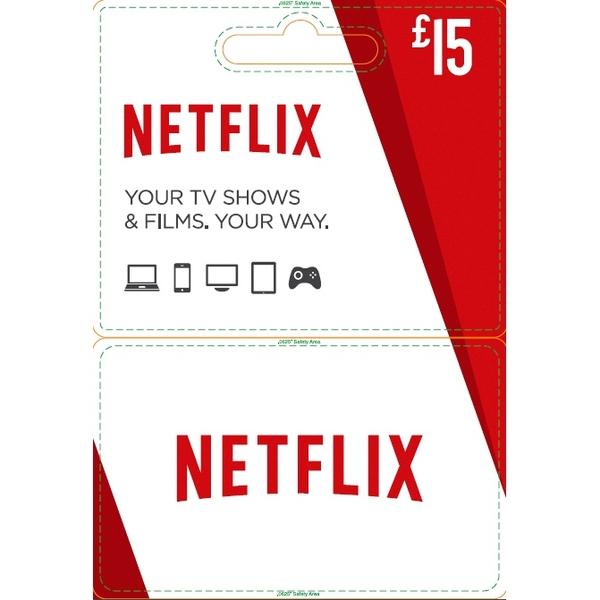 Netflix Gift Card £15