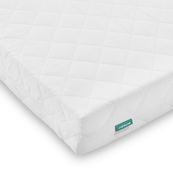 Mini-Uno 140x70cm Pocket Spring Microfibre Cot Bed Mattress