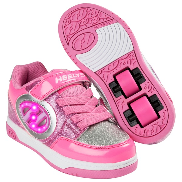 Heelys X2 Plus Lighted Pink/Silver UK 13